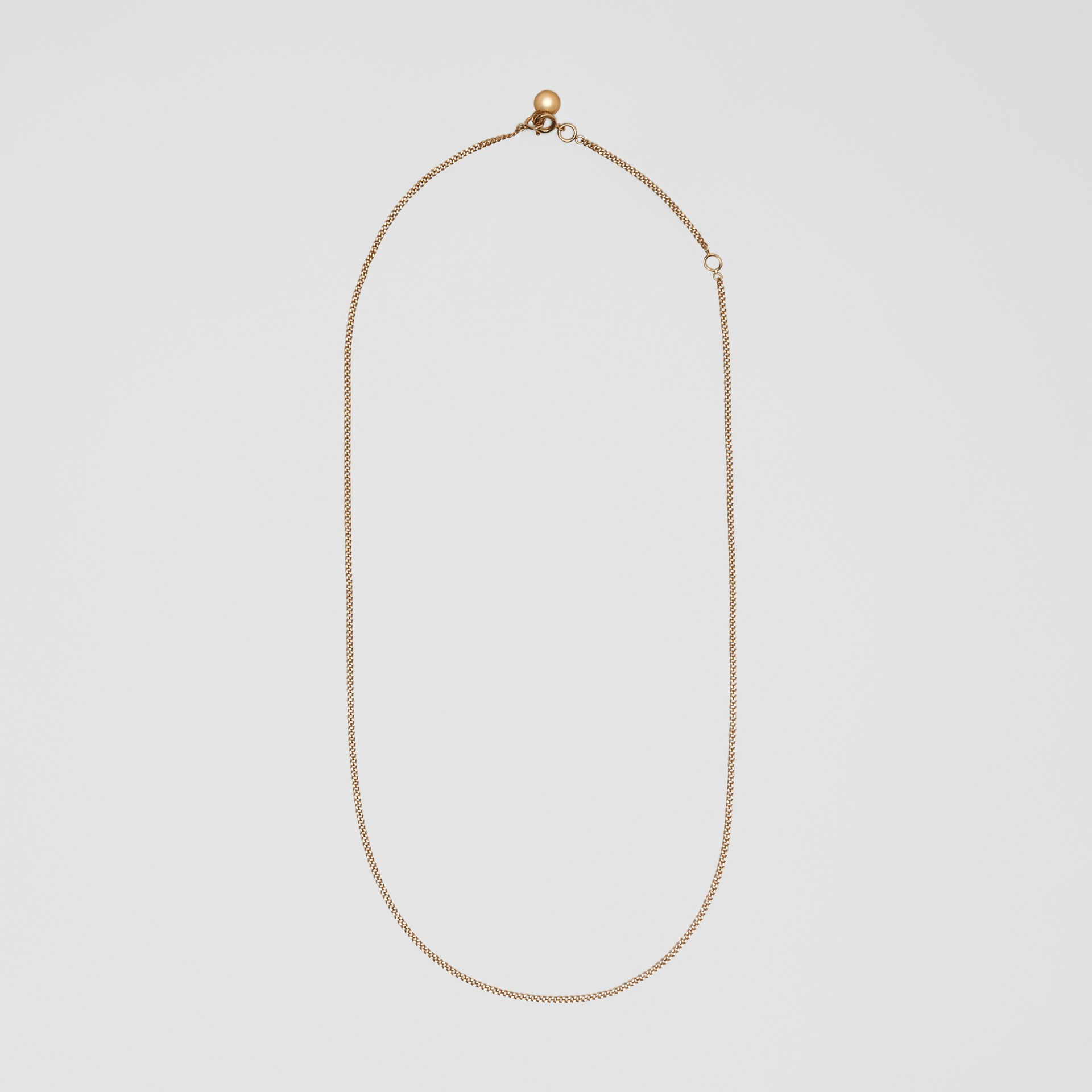 Gold-plated Chain Necklace in Light - Women | Burberry United Kingdom - gallery image 0