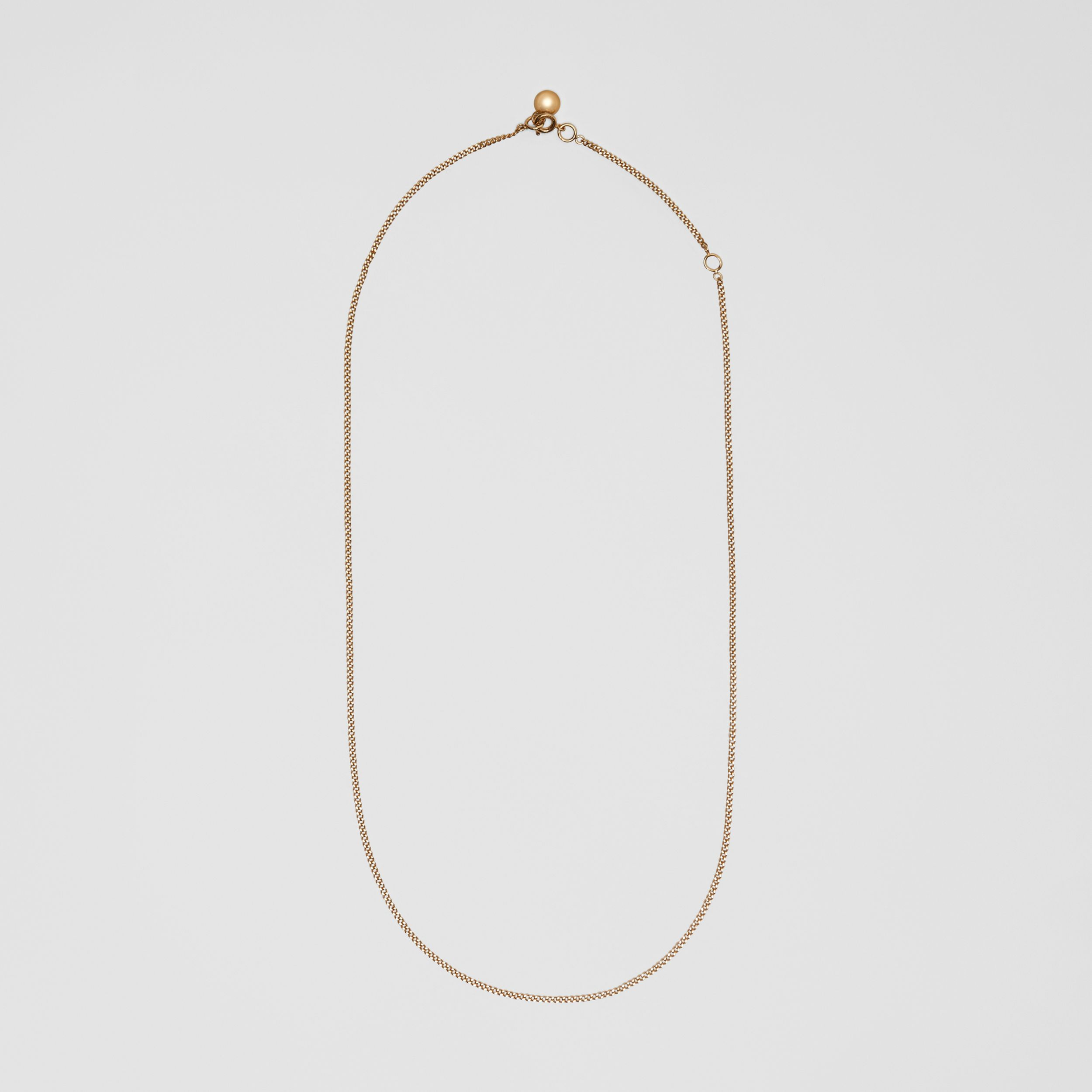 Gold-plated Chain Necklace in Light - Women | Burberry - 1