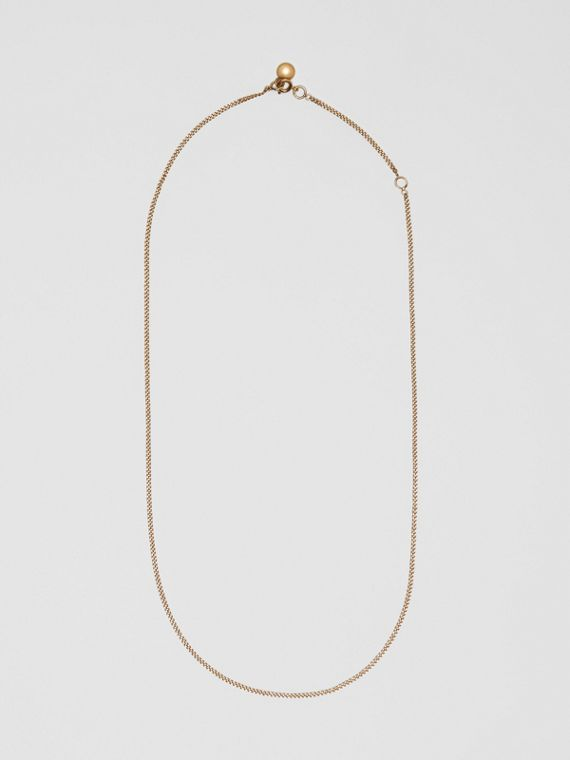 Gold-plated Chain Necklace in Light