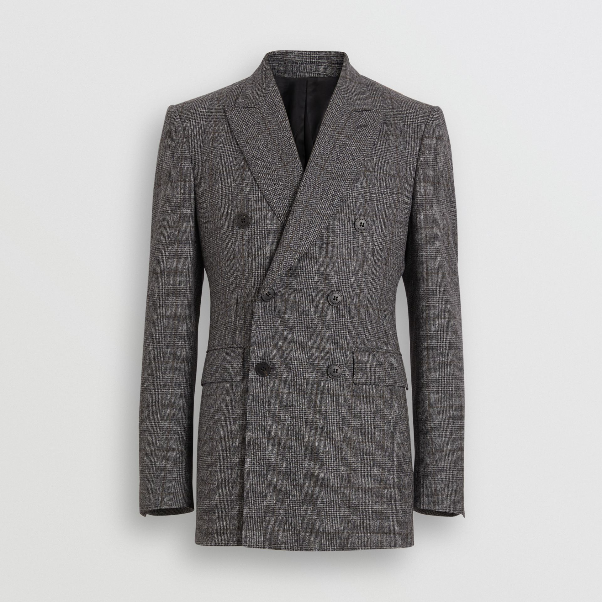 Classic Fit Prince of Wales Check Wool Suit in Charcoal Melange - Men | Burberry - gallery image 3
