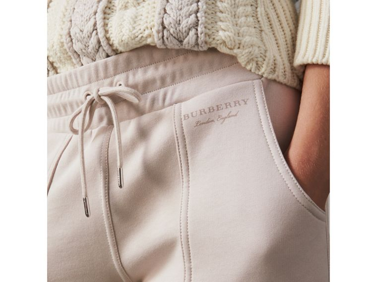 Cropped Jersey Sweatpants in Winter White - Women | Burberry - cell image 1