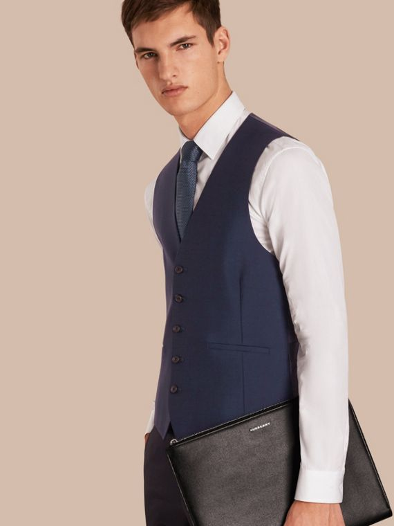 Modern Fit Wool Mohair Tailored Waistcoat