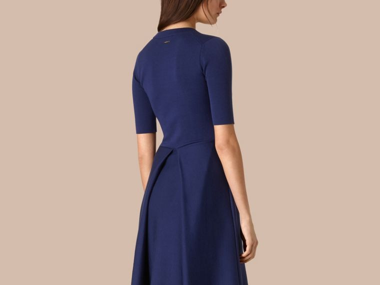 Bright regency blue Knitted Silk Wool Dress Bright Regency Blue - cell image 1
