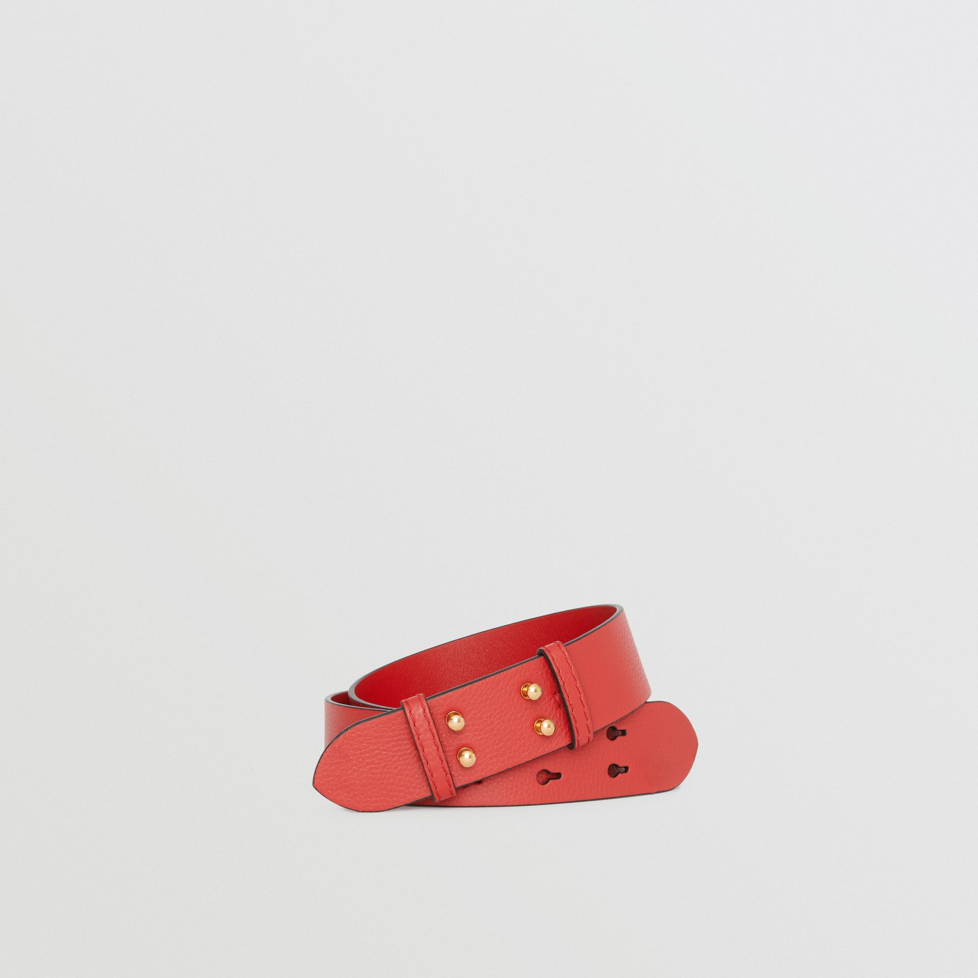 The Small Belt Bag Grainy Leather Belt in Bright Crimson Pink - Women | Burberry - gallery image 0