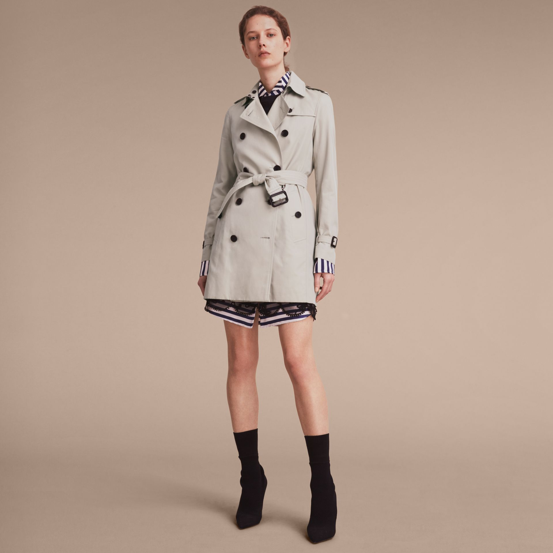 Stone The Kensington – Mid-Length Heritage Trench Coat Stone - gallery image 8