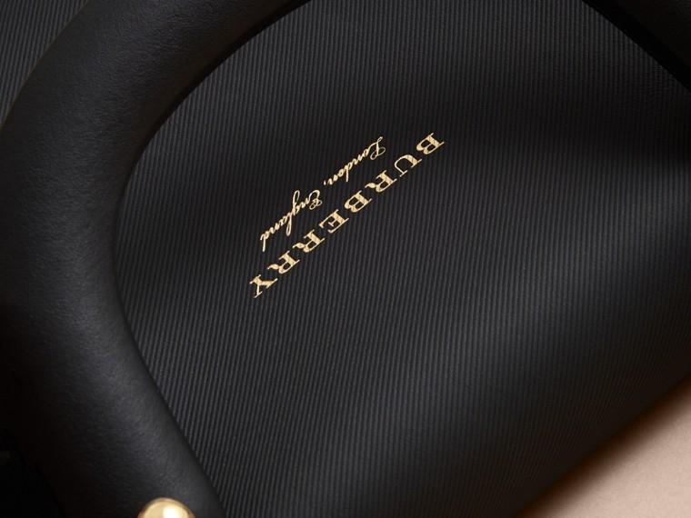 The Medium DK88 Top Handle Bag in Natural/black - cell image 4