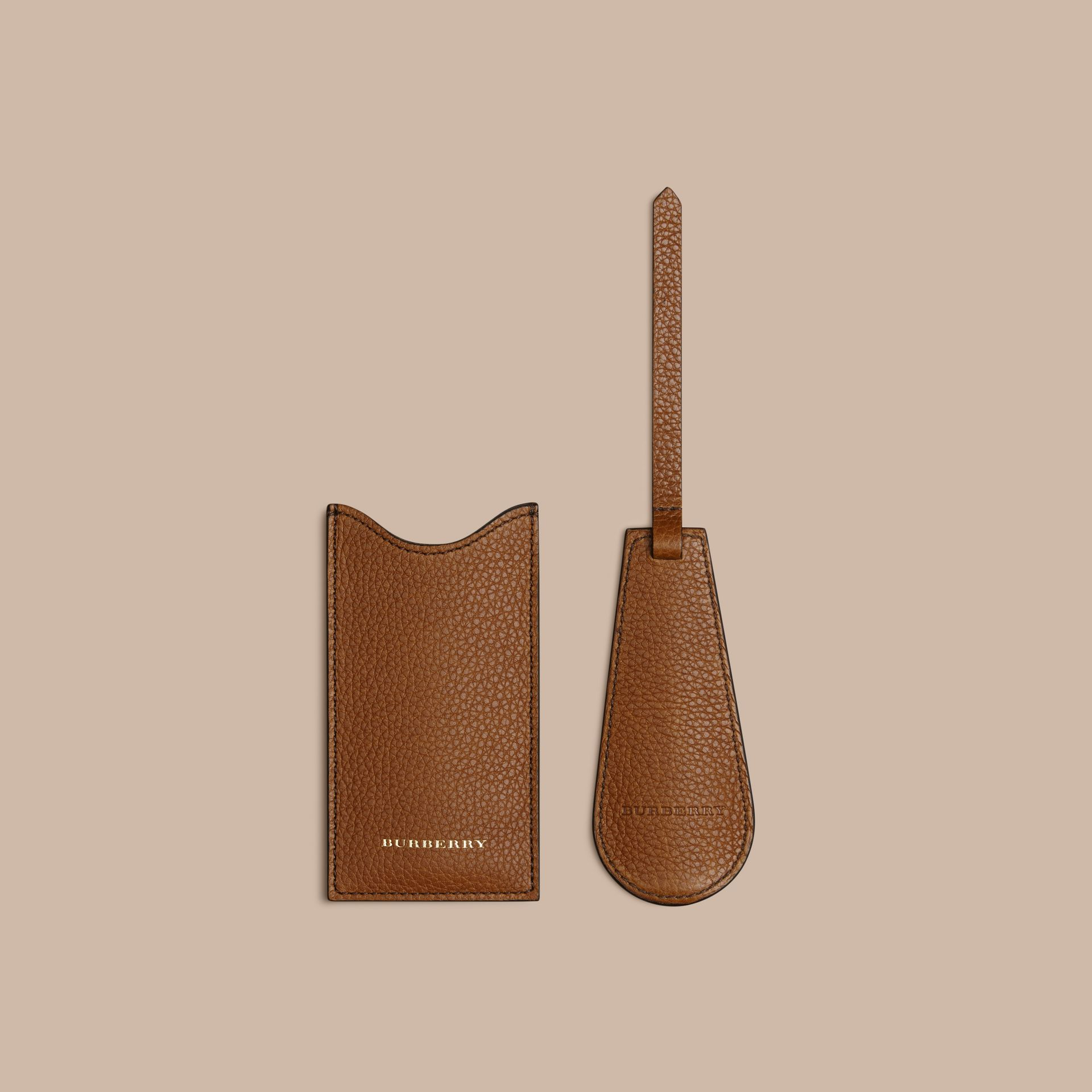 Leather Shoe Horn in Tan - Men | Burberry - gallery image 2