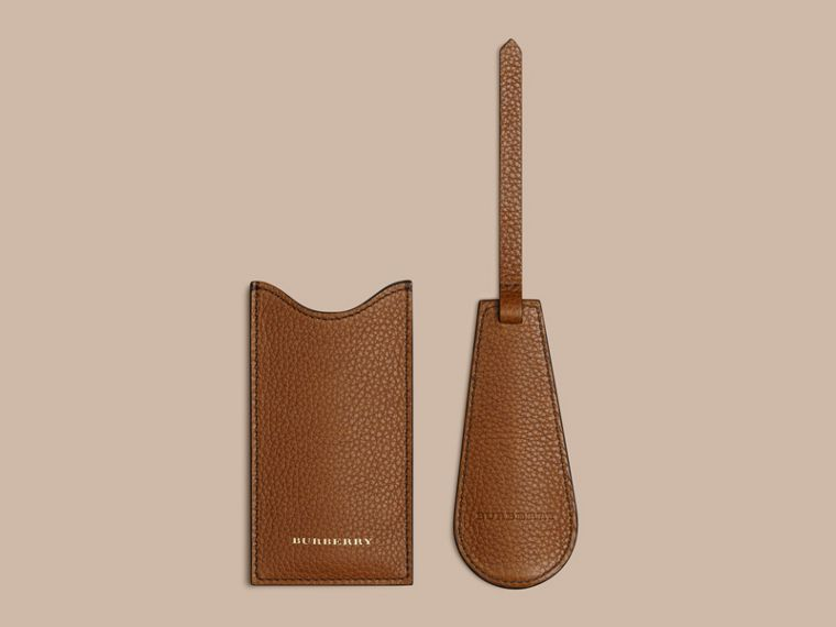 Leather Shoe Horn in Tan - Men | Burberry - cell image 1