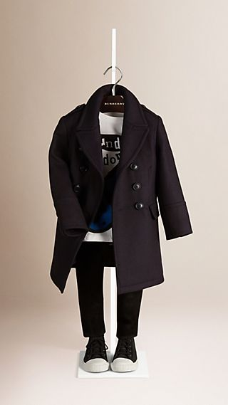 Double-breasted Wool Cashmere Coat