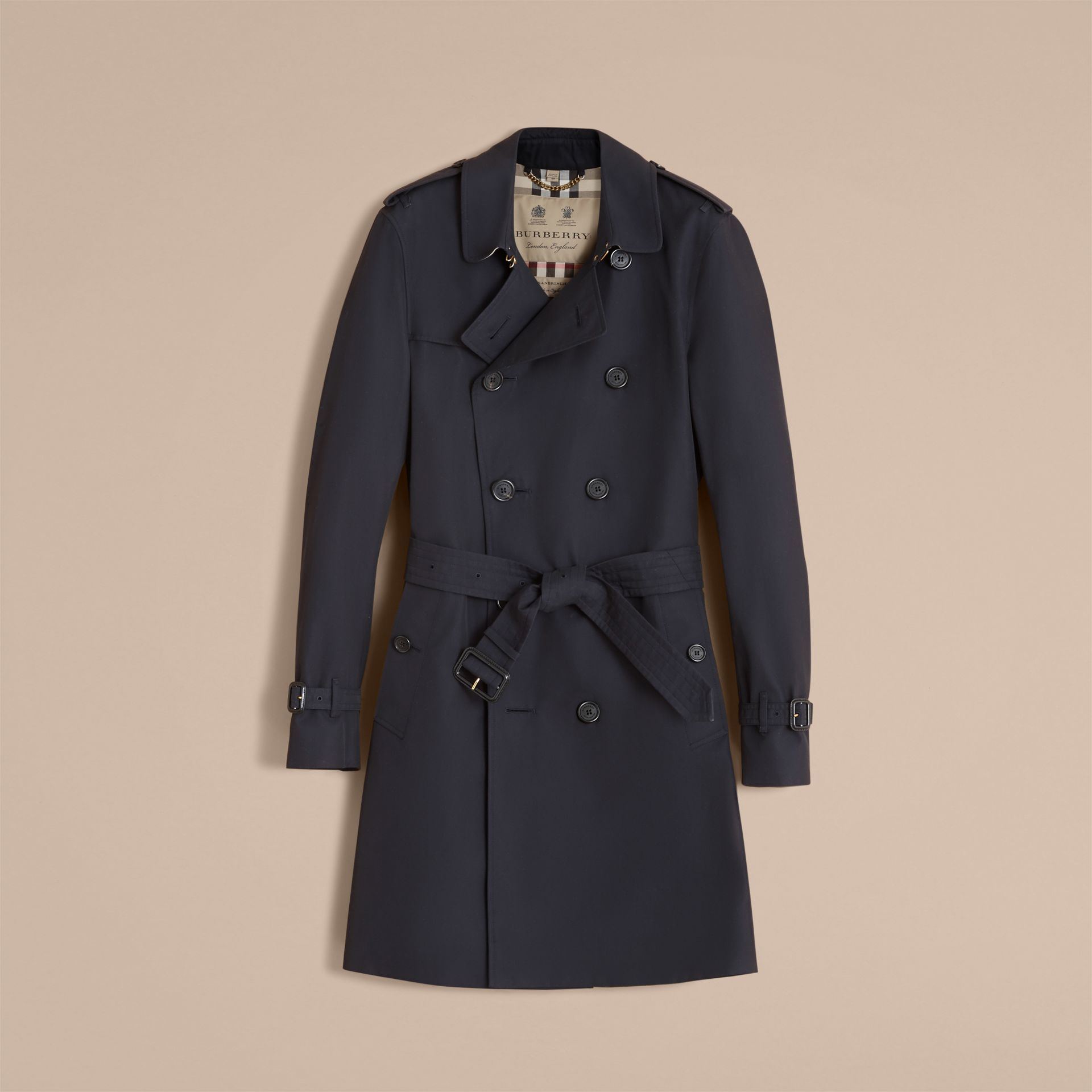Navy The Sandringham – Long Heritage Trench Coat Navy - gallery image 5