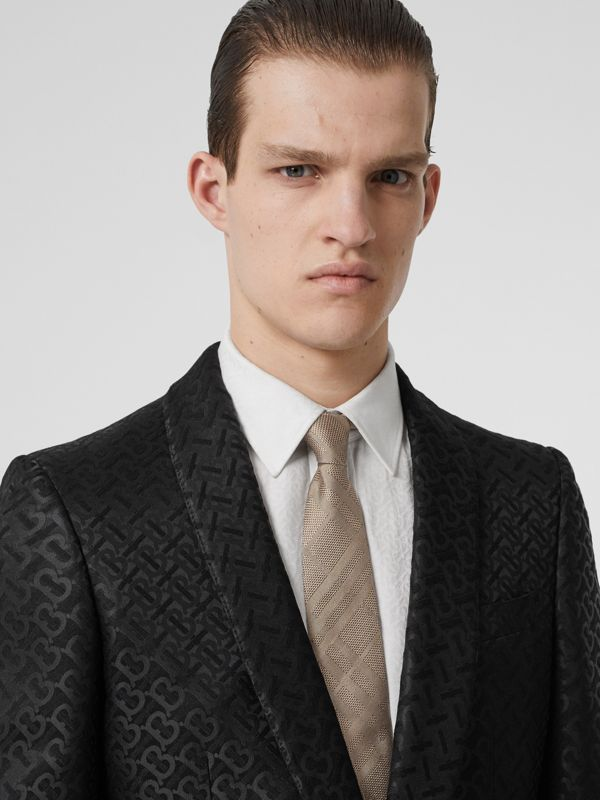 Classic Cut Check Silk Jacquard Tie in Archive Beige - Men | Burberry - cell image 2