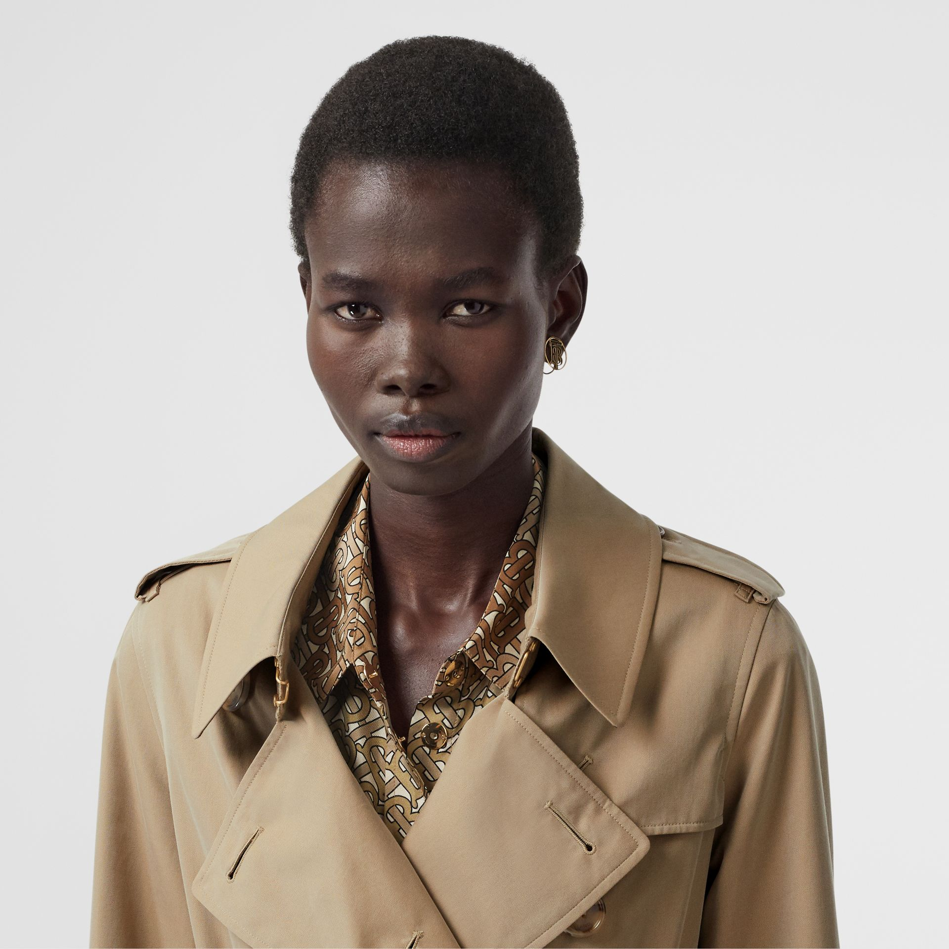 Tropical Gabardine Trench Coat in Honey - Women | Burberry Singapore - gallery image 1