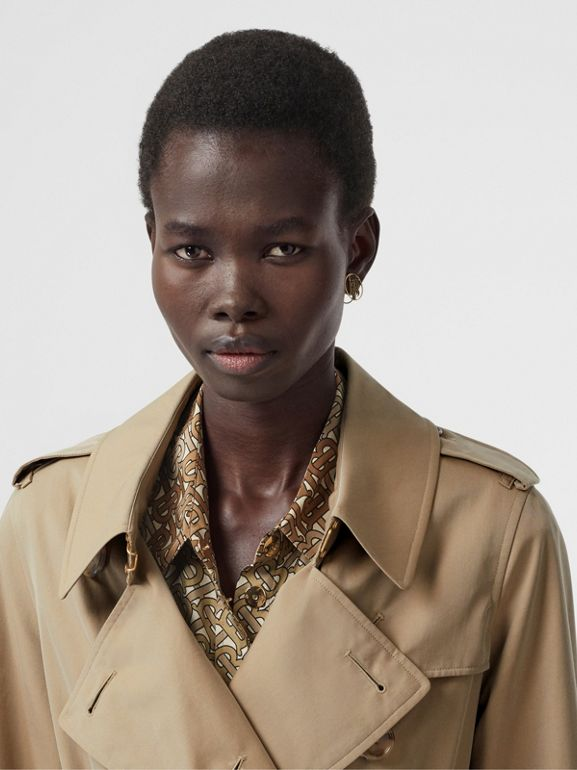Tropical Gabardine Trench Coat in Honey - Women | Burberry Singapore - cell image 1