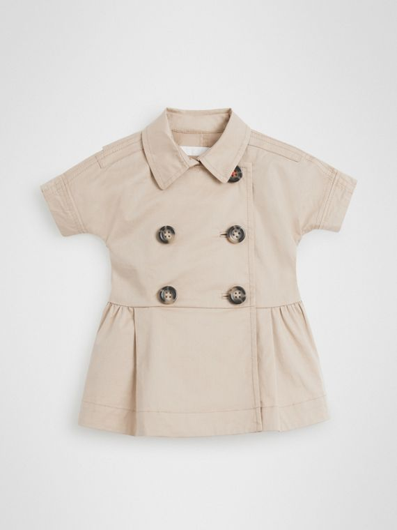 Robe trench en coton extensible (Miel)