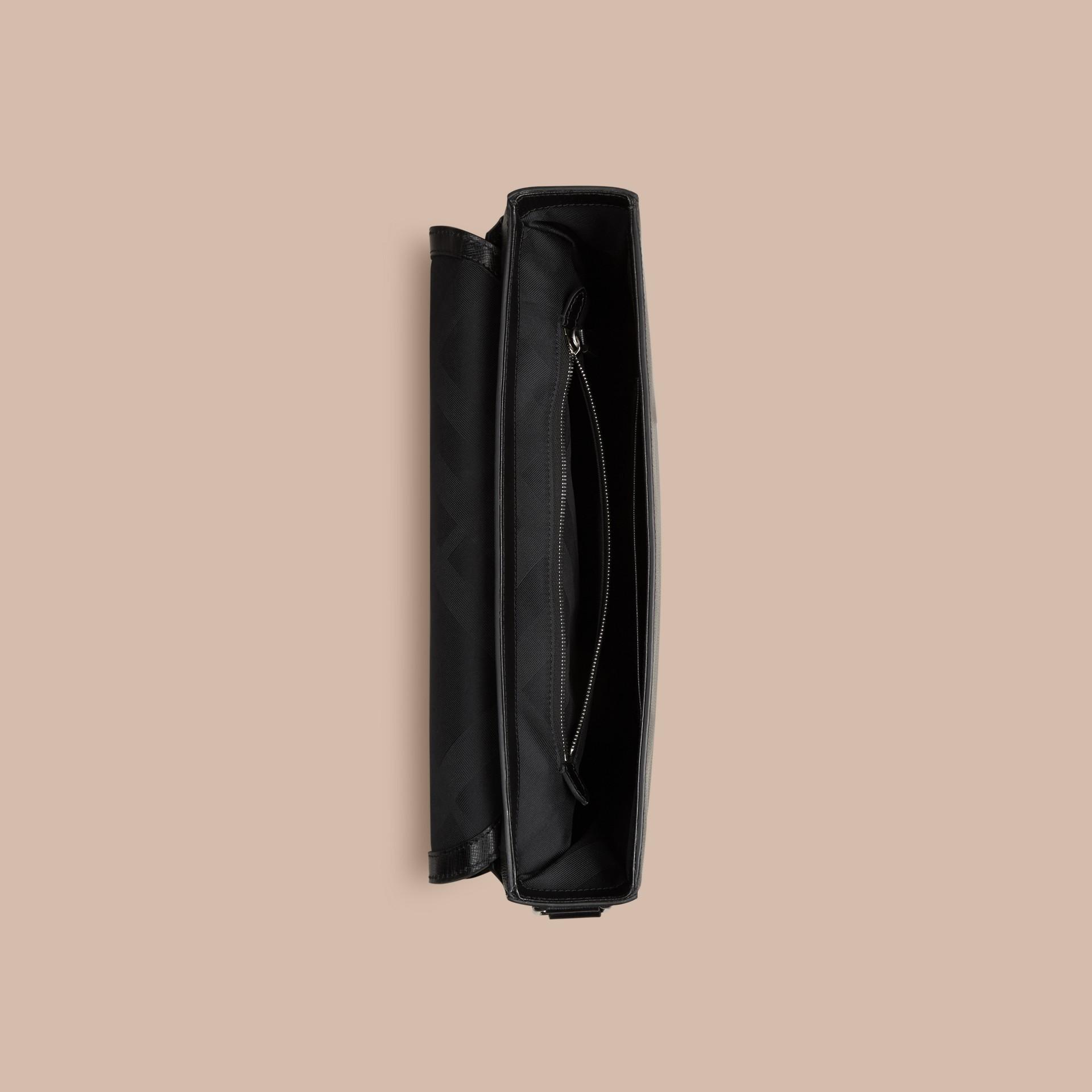 Noir Attaché-case en cuir London Noir - photo de la galerie 4