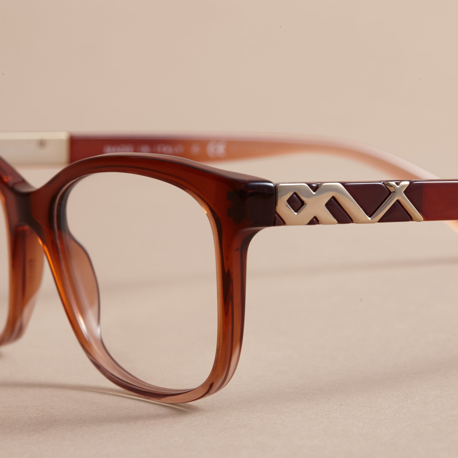 Check Detail Square Optical Frames - gallery image 2