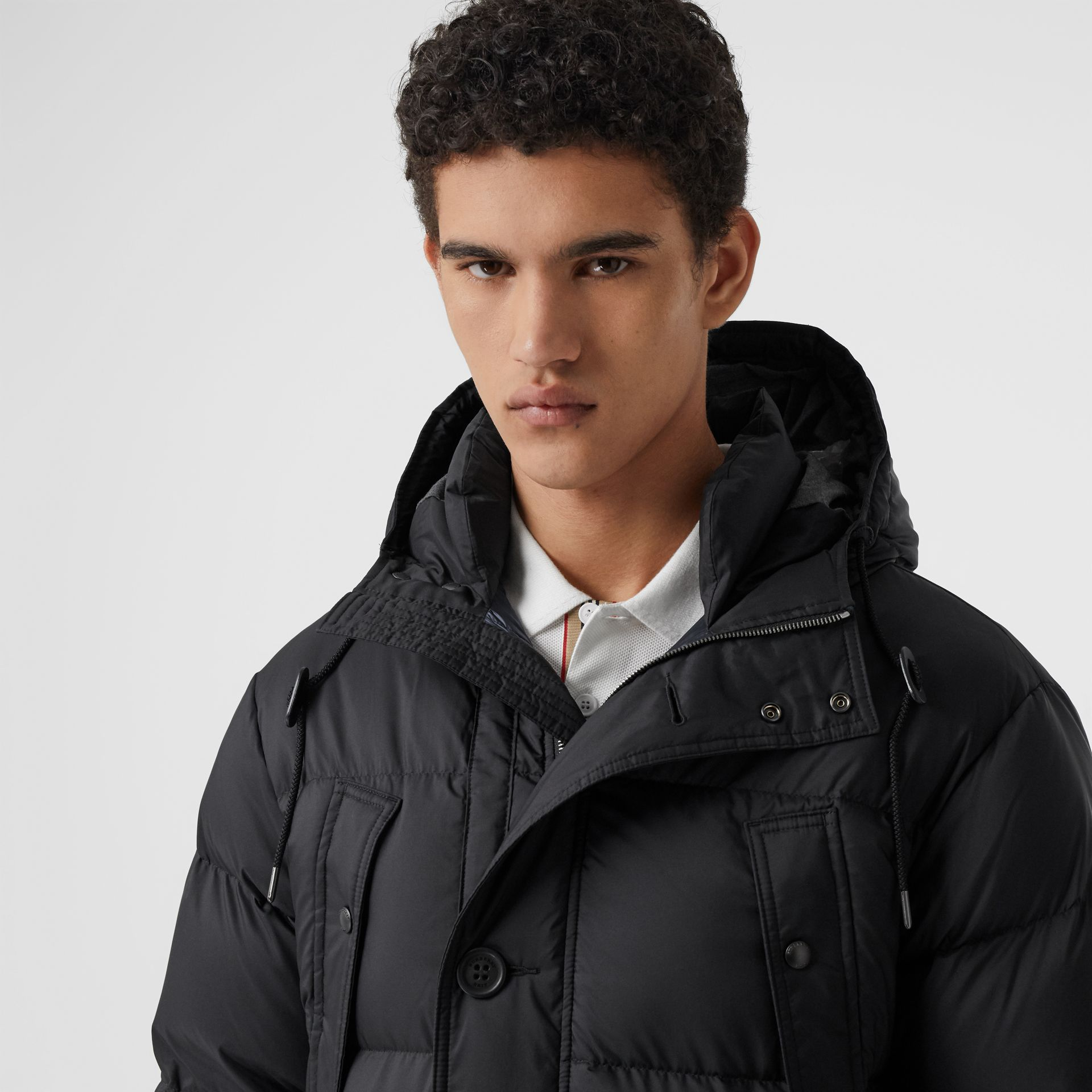 Hooded Puffer Coat in Black - Men | Burberry - gallery image 1