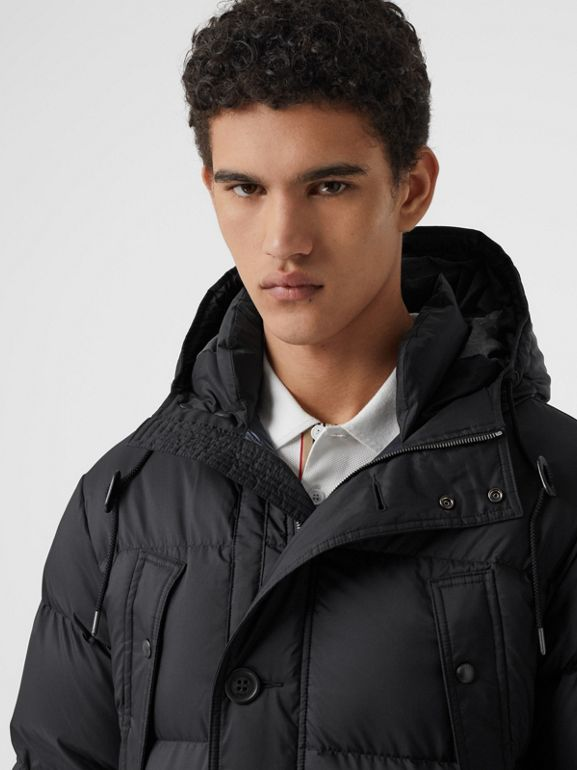 Hooded Puffer Coat in Black - Men | Burberry - cell image 1