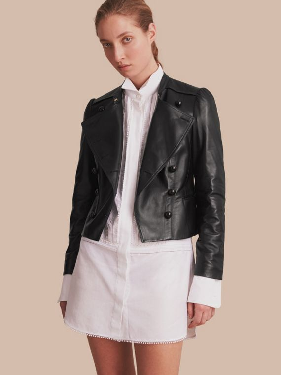 Lambskin Double-breasted Jacket