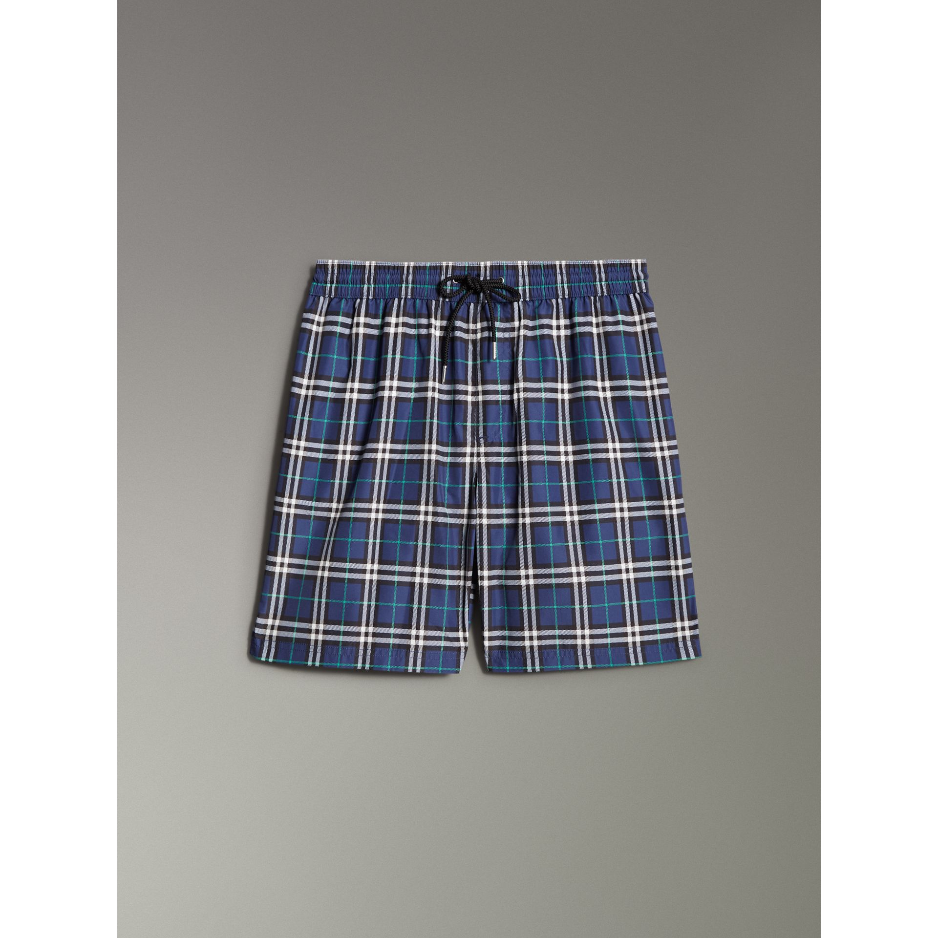 Drawcord Swim Shorts in Canvas Blue - Men | Burberry - gallery image 3