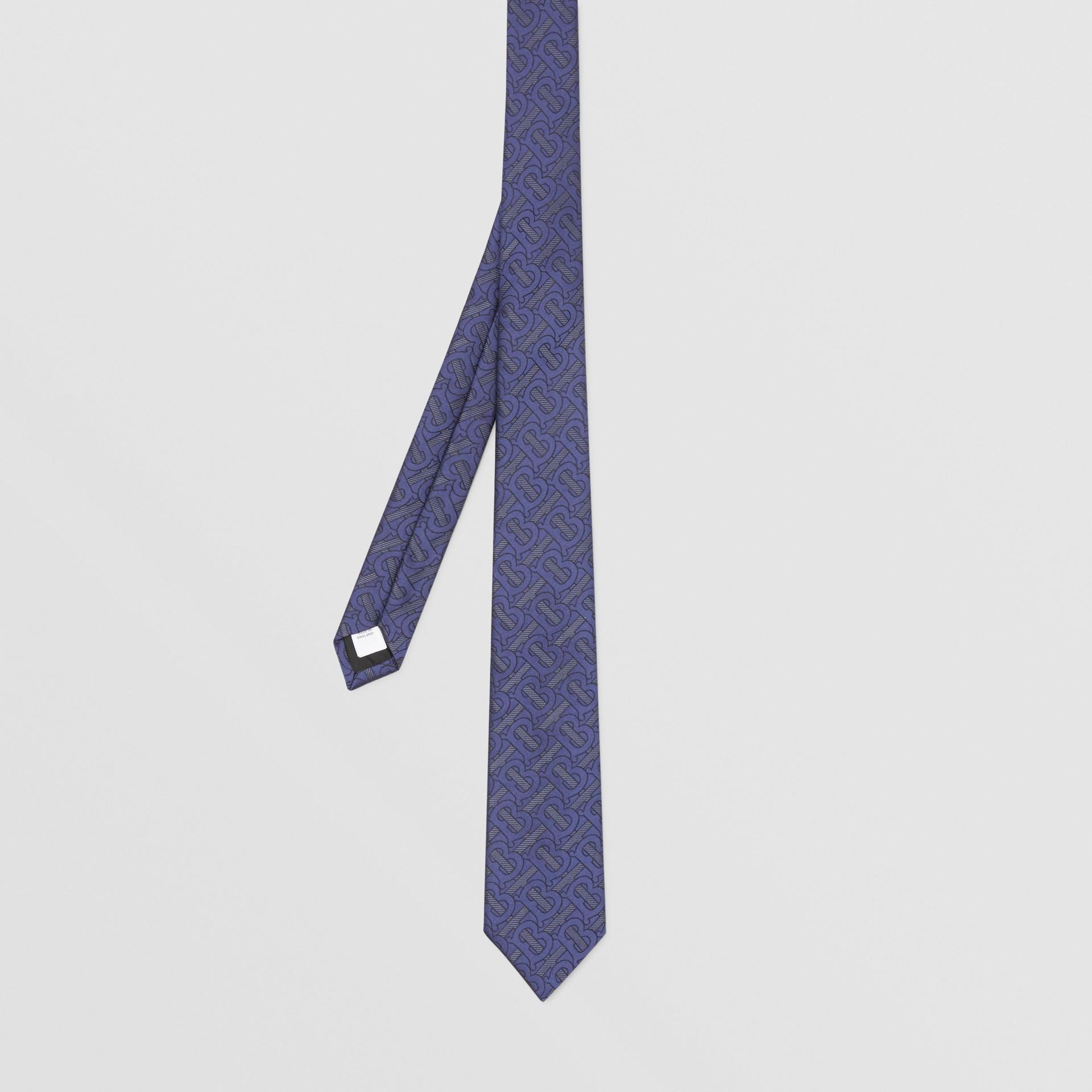 Classic Cut Monogram Silk Blend Jacquard Tie in Bright Indigo - Men | Burberry Hong Kong S.A.R - gallery image 4