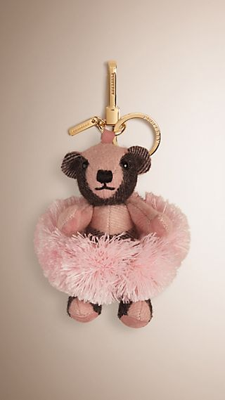 Ballerina Thomas Bear Charm in Check Cashmere