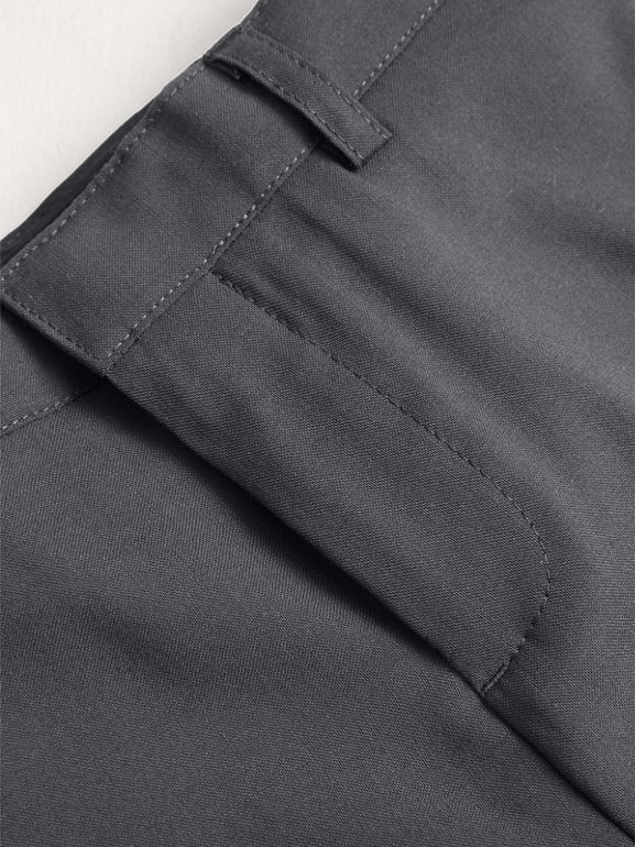 Tailored Wool Trousers in Mid Grey Melange | Burberry - cell image 1