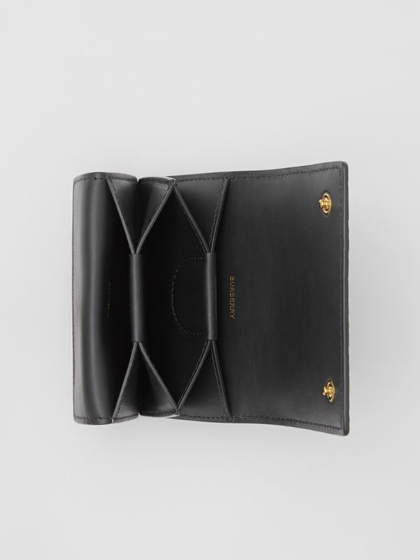 Monogram Leather Card Case in Black | Burberry - cell image 3
