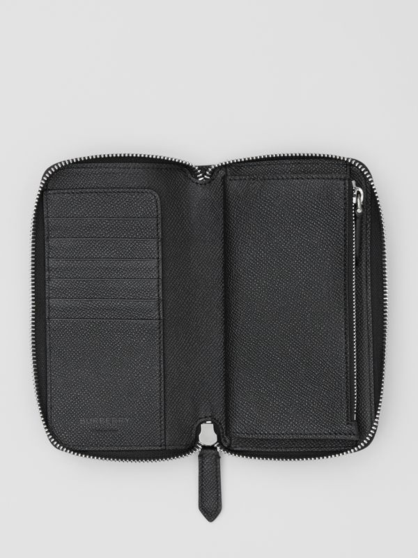 Grainy Leather Phone Wallet in Black - Men | Burberry United Kingdom - cell image 2