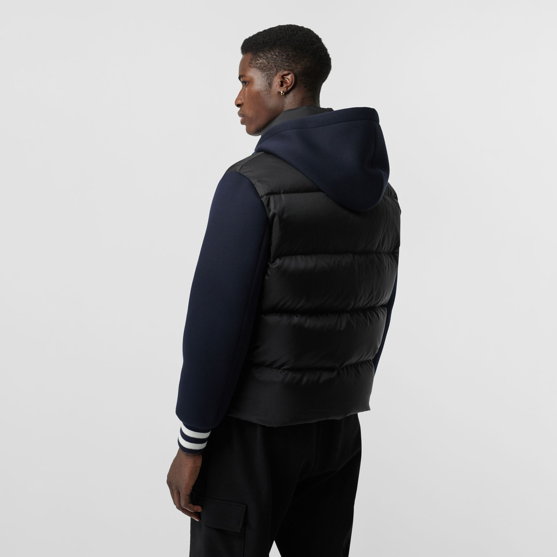 Neoprene Down-filled Hooded Jacket in Black - Men | Burberry Canada - gallery image 1