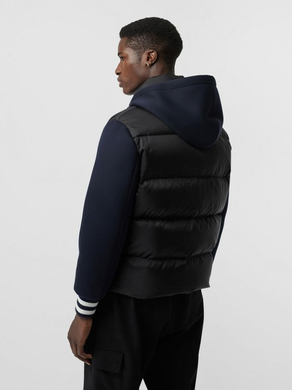 Neoprene Down-filled Hooded Jacket in Black - Men | Burberry United Kingdom - cell image 1
