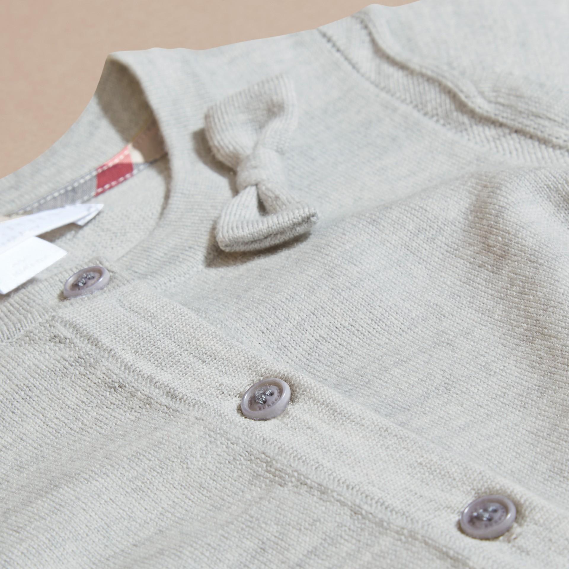Light grey melange Lightweight Merino Wool Cardigan Grey Melange - gallery image 2