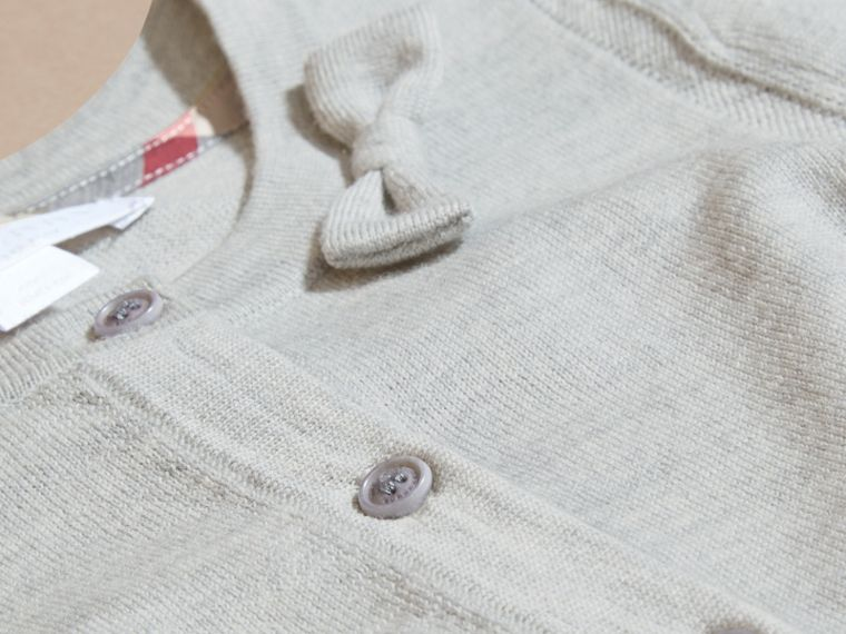Light grey melange Lightweight Merino Wool Cardigan Grey Melange - cell image 1