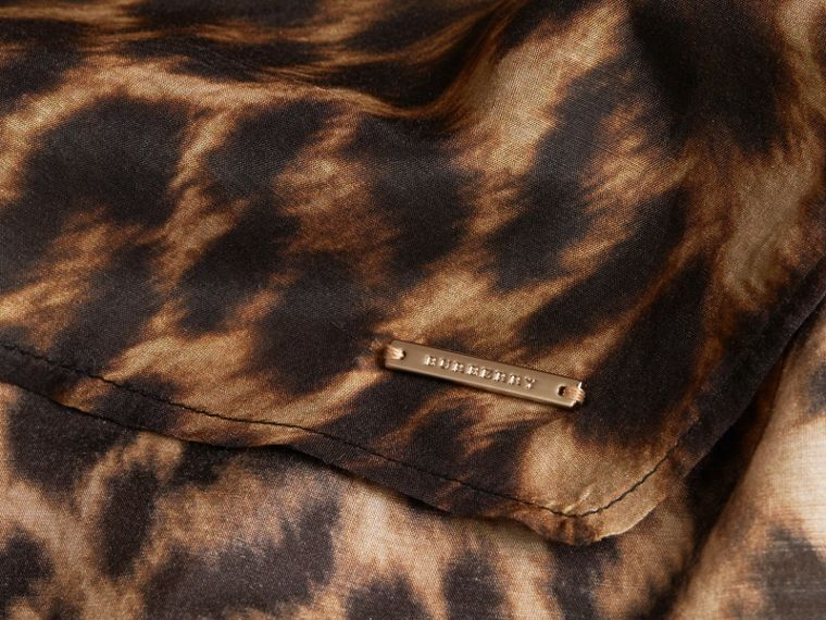 Animal Print Cotton Silk Swimwear Cover-up - cell image 1