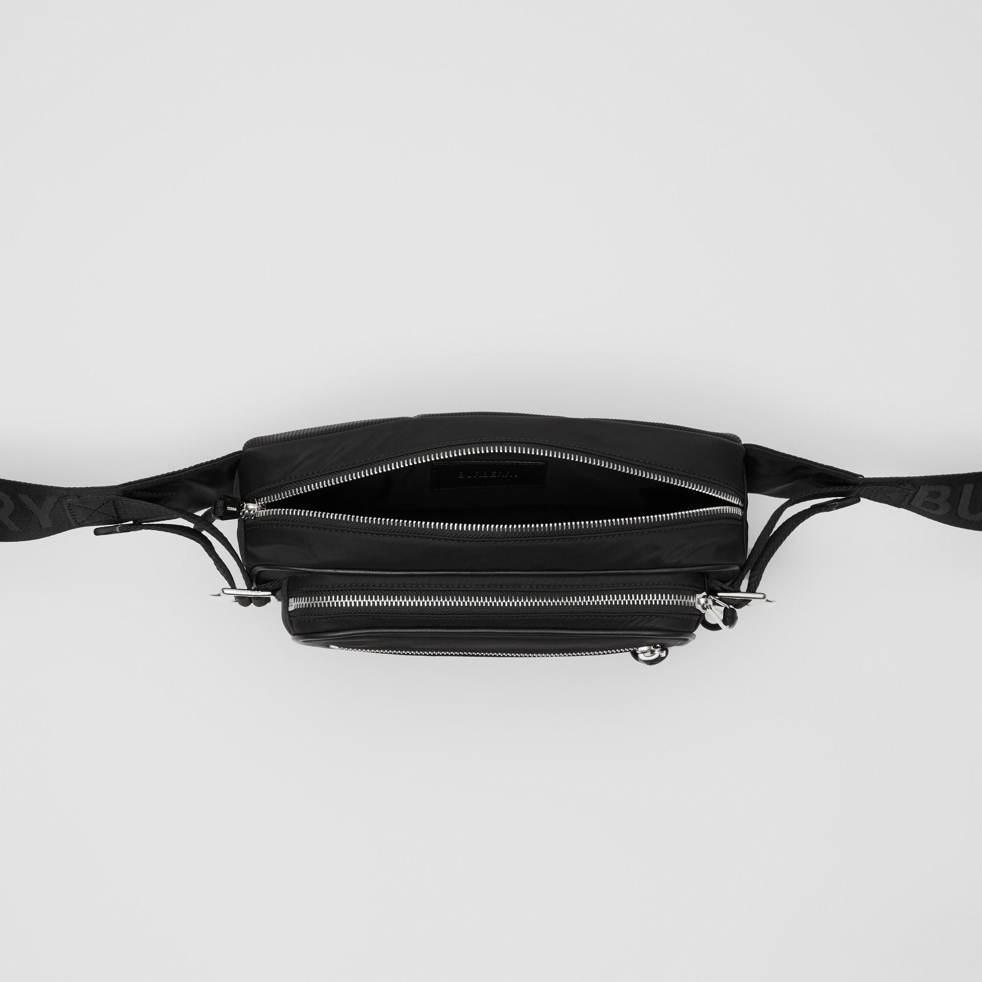 Medium Logo Print ECONYL® Cannon Bum Bag in Black - Men | Burberry United Kingdom - gallery image 5