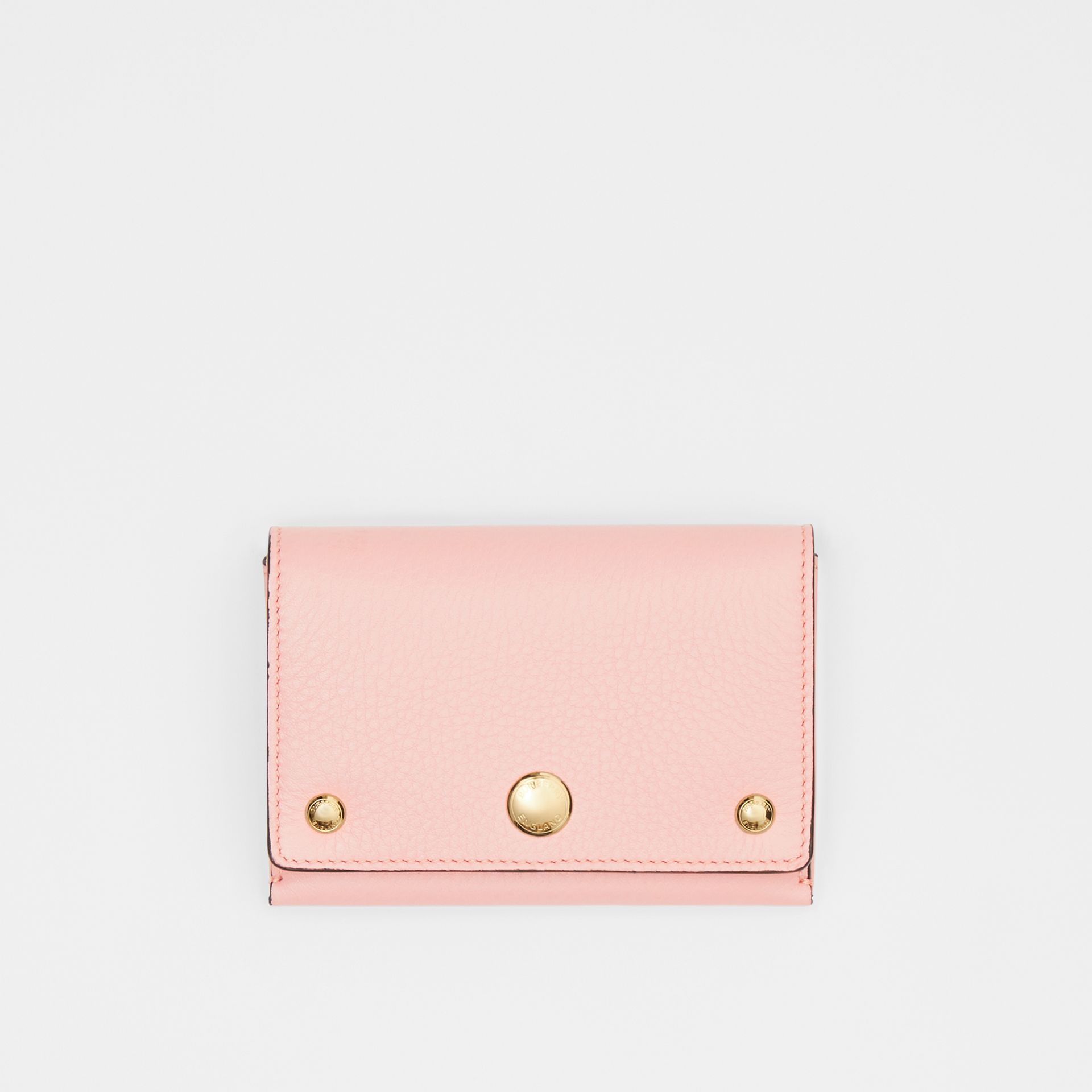 Triple Stud Leather Folding Wallet in Pale Ash Rose - Women | Burberry Australia - gallery image 0