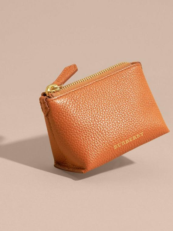 Grainy Leather Lipstick Case in Orange Umber - Women | Burberry - cell image 2