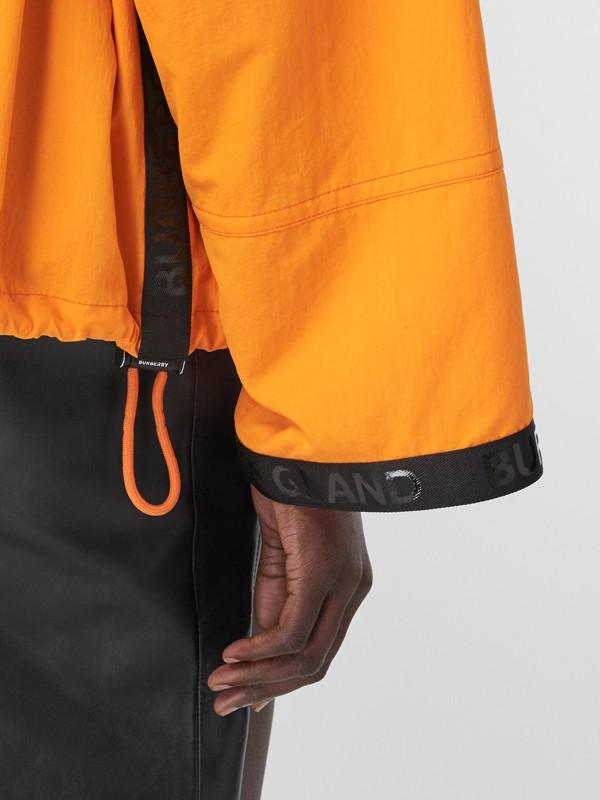 Logo Tape Technical Nylon Hooded Jacket in Bright Orange | Burberry United Kingdom - cell image 3