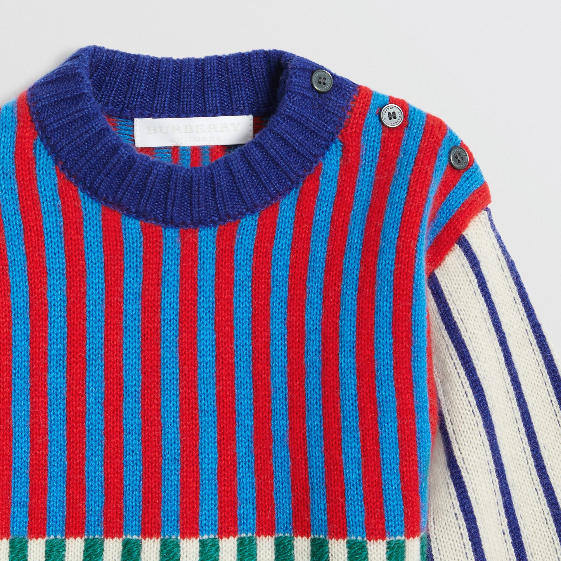 Graphic Cashmere Jacquard Sweater in Multicolour - Children | Burberry United Kingdom - gallery image 4