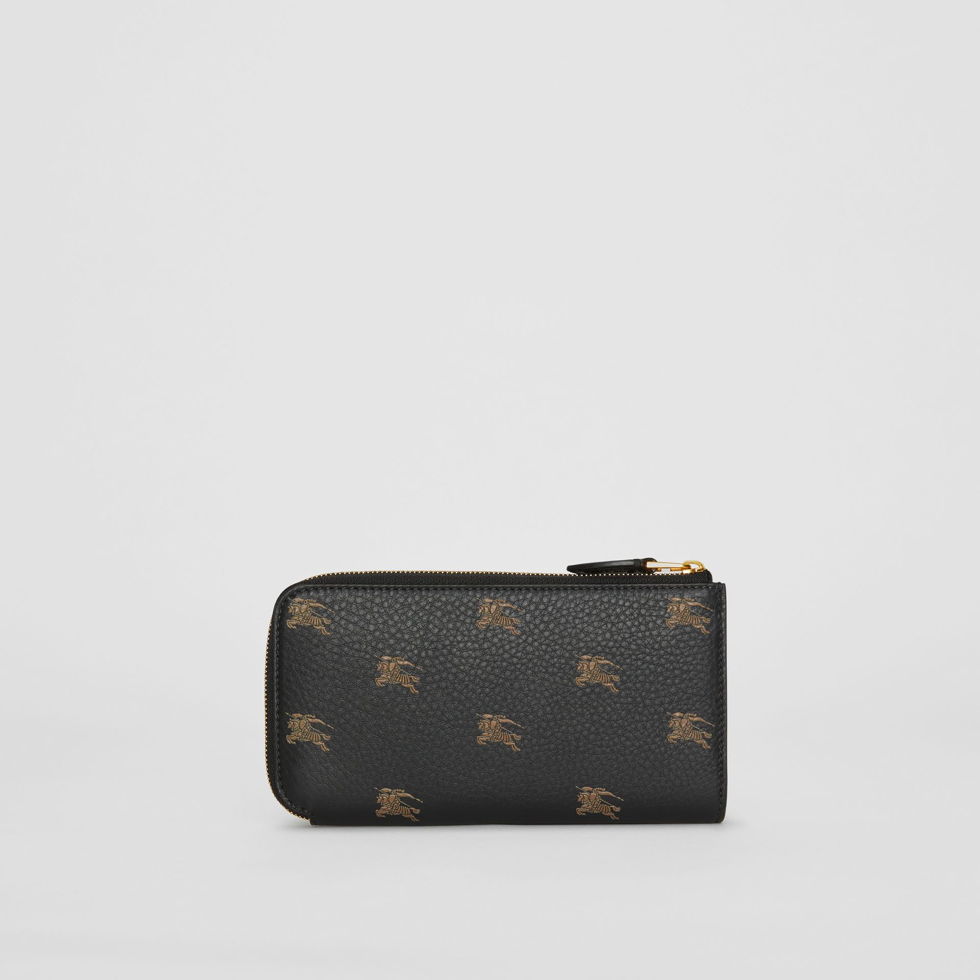 EKD Leather Ziparound Wallet and Coin Case in Black - Women | Burberry - gallery image 6