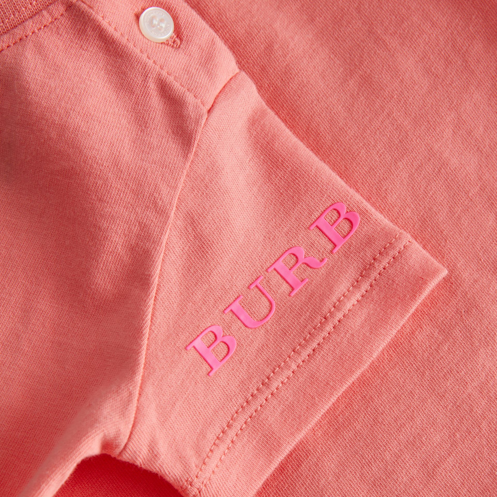 T-shirt en coton avec logo imprimé (Rose Vif) - Enfant | Burberry - photo de la galerie 1
