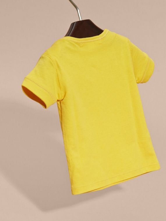 Check Pocket T-Shirt in Bright Yellow - cell image 3