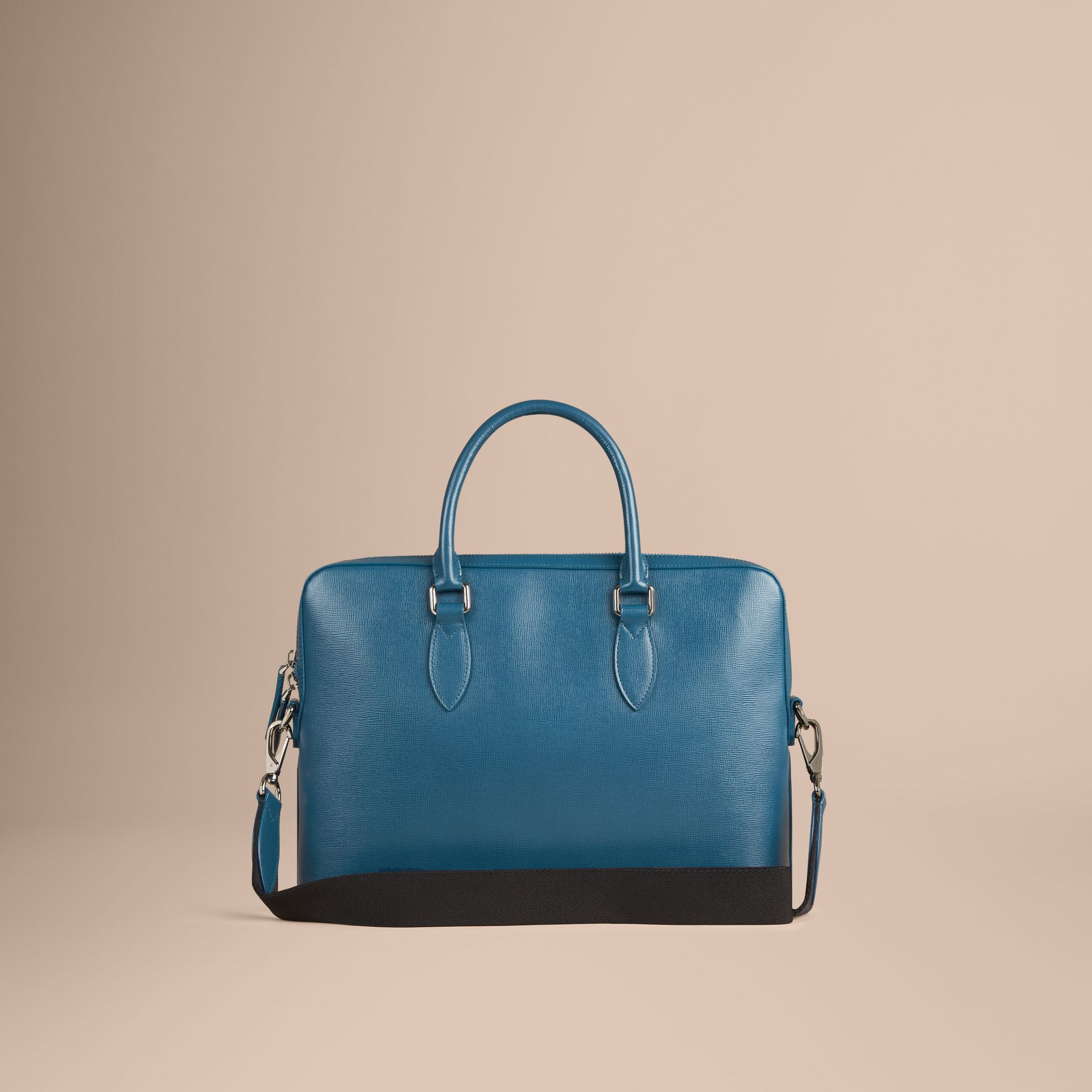The Slim Barrow in London Leather in Mineral Blue - gallery image 4