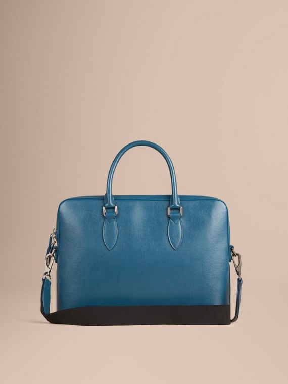 The Slim Barrow in London Leather in Mineral Blue - Men | Burberry - cell image 3