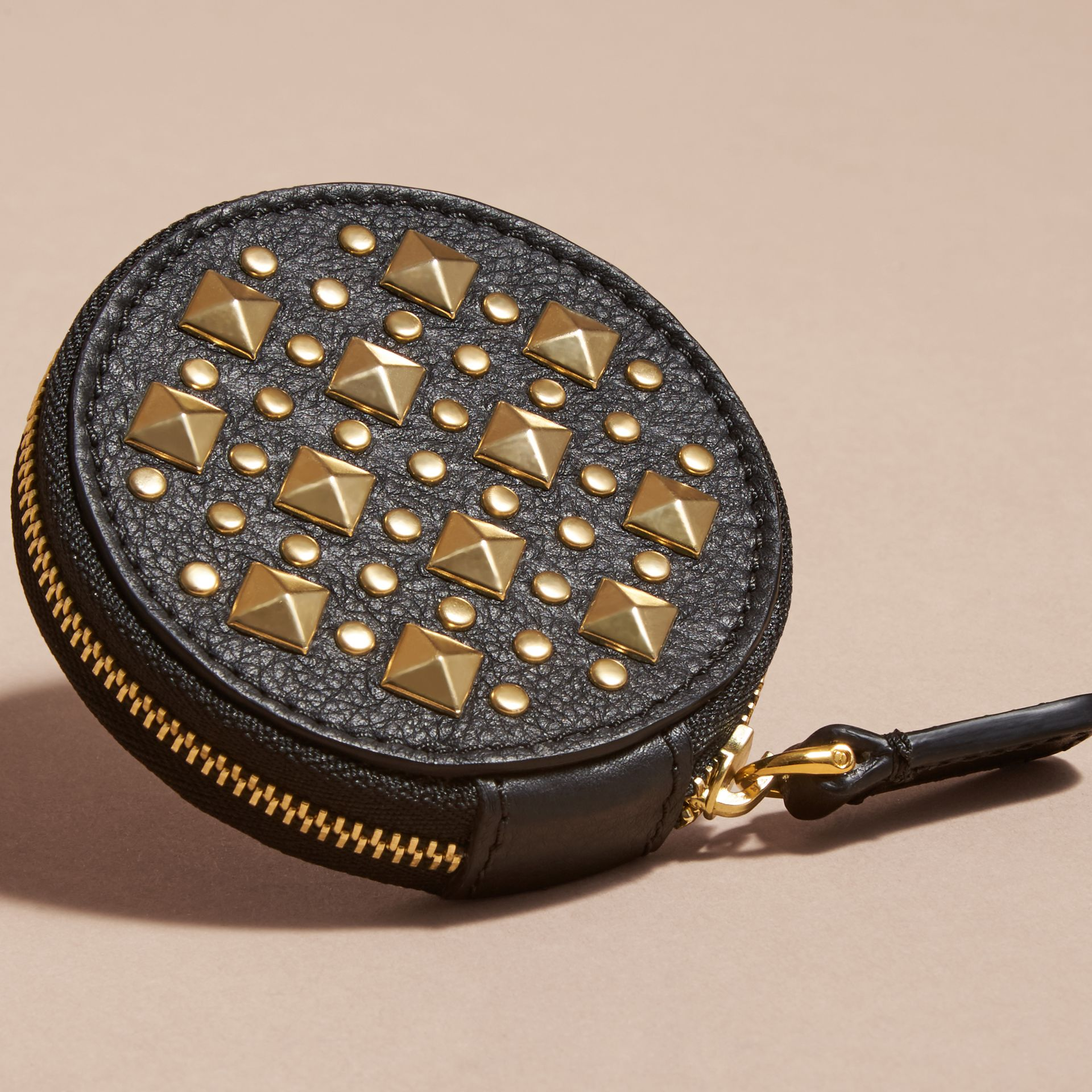 Studded Leather Coin Case - gallery image 3