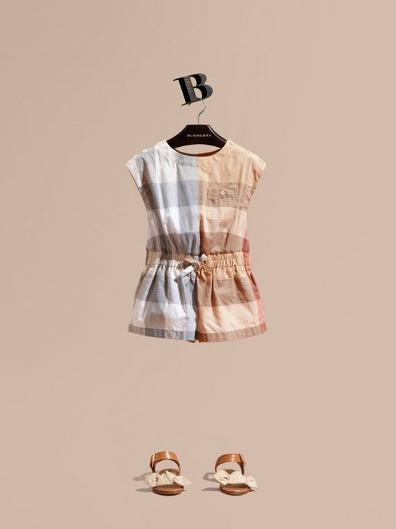 Check Cotton Playsuit | Burberry Australia