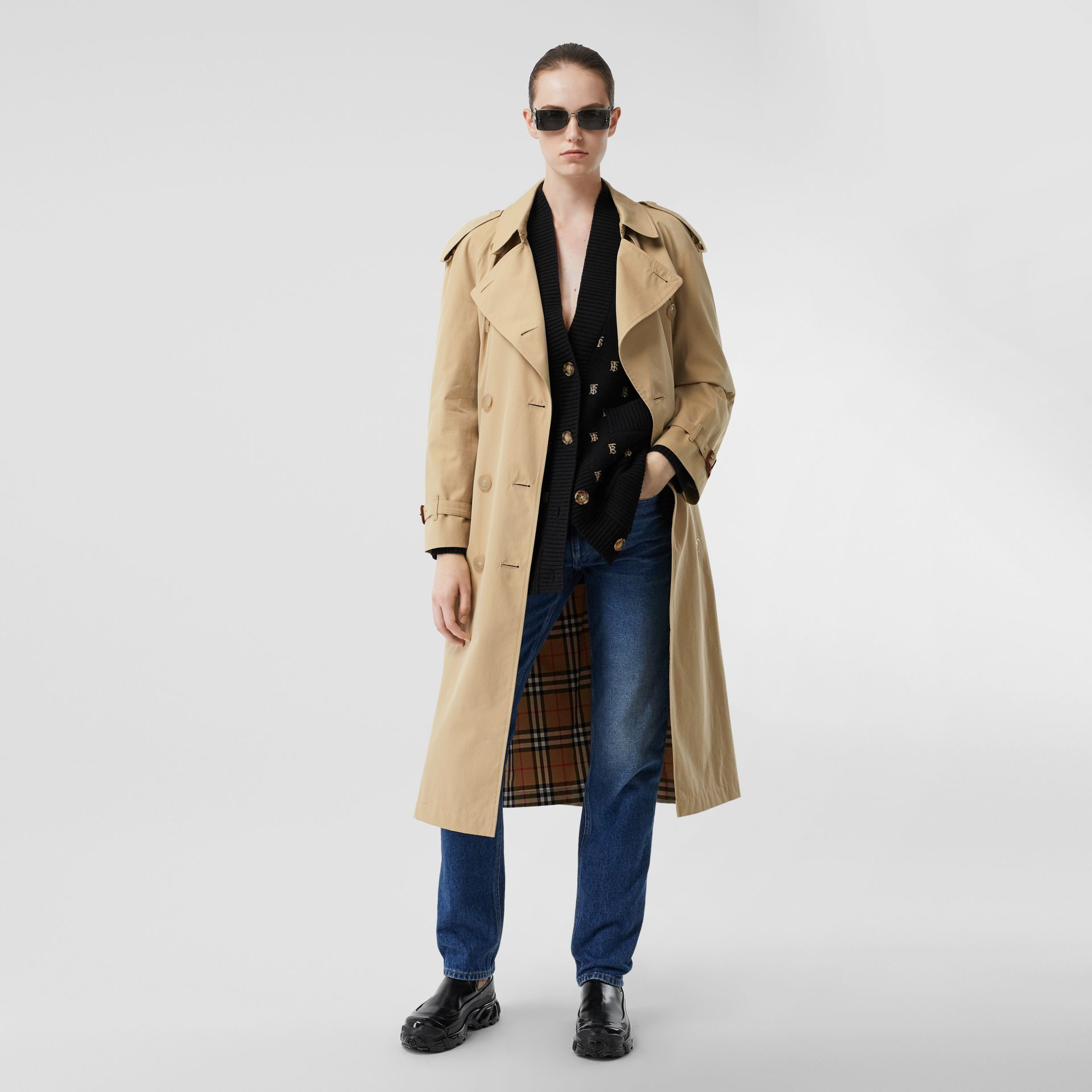 The Westminster – Trench Heritage long (Miel) - Femme | Burberry Canada - photo de la galerie 0