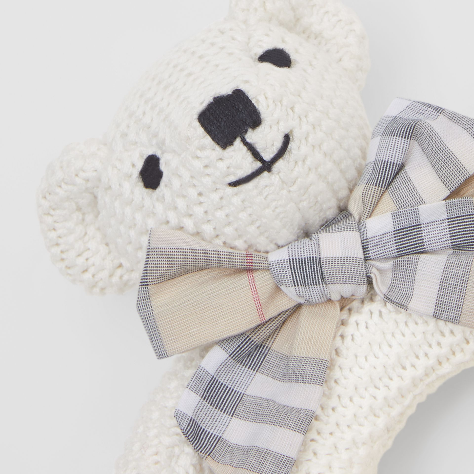 Thomas Bear Cotton Rattle in Ivory - Children | Burberry - gallery image 1