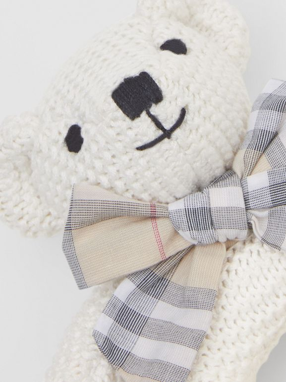 Thomas Bear Cotton Rattle in Ivory - Children | Burberry - cell image 1