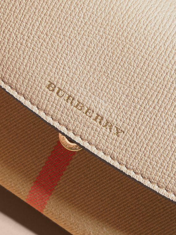 House Check And Leather Continental Wallet in Limestone - Women | Burberry Australia - cell image 2